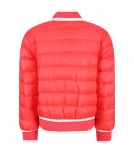 MONCLER KIDS Coral girl jacket with iconic logo