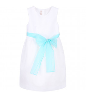 White girl dress with bow