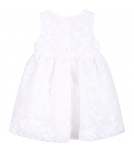 Ivory babygirl dress with white flowers