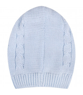 LITTLE BEAR Light blue babyboy hat