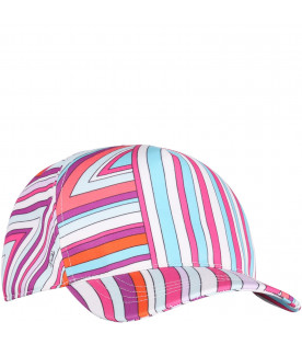 c433b6a391a EMILIO PUCCI JUNIOR Colorful girl hat with iconic print ...
