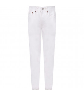 RALPH LAUREN KIDS White boy jeans with logo