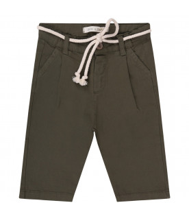 ZHOE & TOBIAH Military green babyboy pants