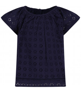 RALPH LAUREN KIDS Blue girl blouse
