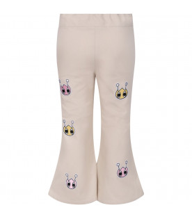 OWA YURIKA Beige girl pants withh iconic patches