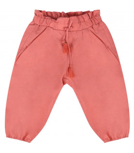 CHLOÉ KIDS Brick babygirl pants