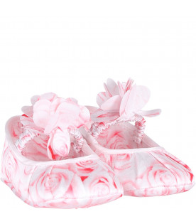 BLUMARINE BABY Pink and white babygirl with roses