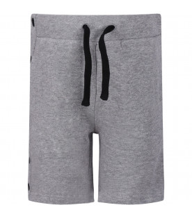 STELLA MCCARTNEY KIDS Grey boy short with black press-studs