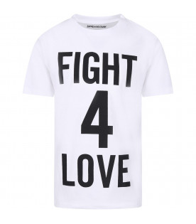 ZADIG & VOLTAIRE KIDS White girl T-shirt with black writing