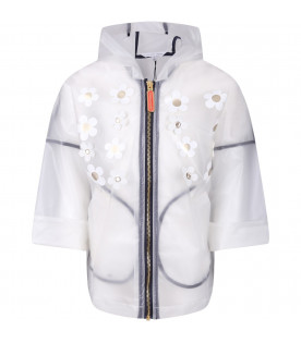 LITTLE MARC JACOBS Celar girl raincoat with white and gold flowers