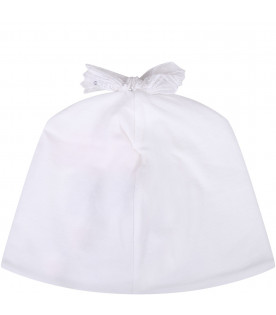 BLUMARINE BABY White babygirl hat with logo