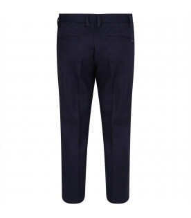 Blue boy pants with iconic eagle