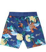 Kenzo Kids Short blu per neonato con tigri all-over