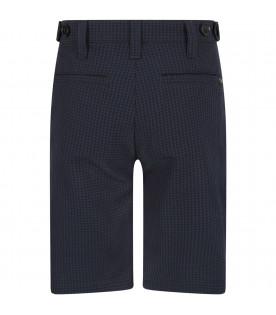 ARMANI JUNIOR   Blue boy short with metallic logo