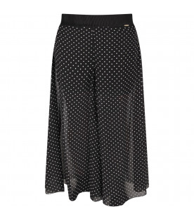 Black girl pants with polka-dots