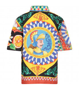 DOLCE & GABBANA KIDS Multicolor boy shirt with colorful prints