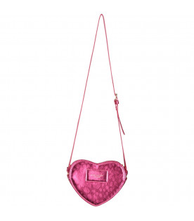 LITTLE MARC JACOBS Fucshia girl bag with gold logo