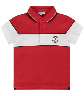 93da9b047bd GIVENCHY KIDS Red babyboy polo shirt with black logo ...