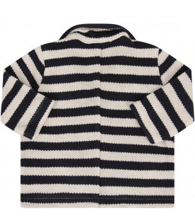 ZHOE & TOBIAH White and blue babyboy jacket