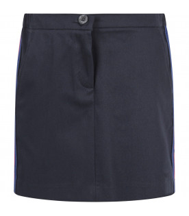 Blue skirt for girl with side stripes