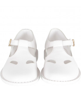 BURBERRY KIDS White girl shoes