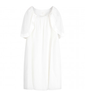 CHLOÉ KIDS White girl dress with logo