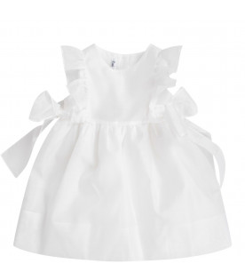 White babygirl dress with bows