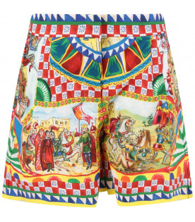 DOLCE & GABBANA KIDS Multicolor girl short with colorful prints