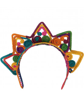 LEONTINE VINTAGE Colorful girl tiara with stars