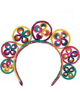 LEONTINE VINTAGE Colorful girl tiara with circles