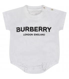 BURBERRY KIDS White and black babykids set with logo