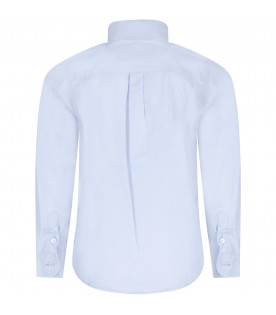 FENDI KIDS Light blue boy shirt