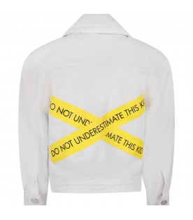 White ''North'' kids jacket with black writing
