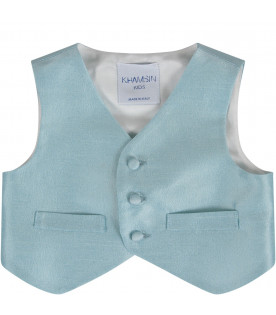 PRVT LABEL Light blue babyboy vest