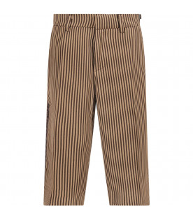 Brown and beige boy short with double FF