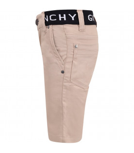 GIVENCHY KIDS Beige boy short with black thunder