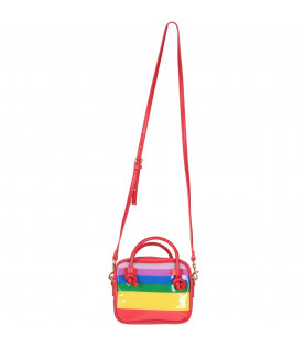 ALBERTA FERRETTI JUNIOR Colorful girl bag with black ''Tomorrow'' writing