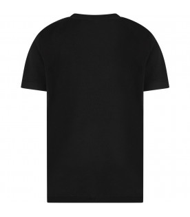 Black boy T-shirt with white surd