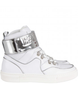 White girl sneaker with logo