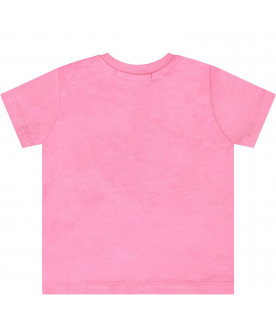 Pink babygirl T-shirt with white logo
