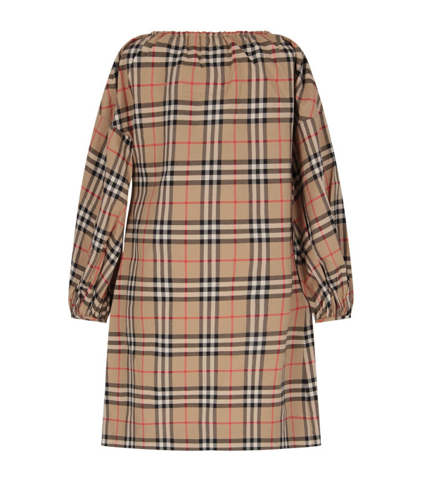 BURBERRY KIDS Biege girl dress with iconic vintage check