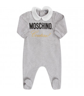 "MOSCHINO KIDS Melanged grey baby set ""Moschino Couture!"""