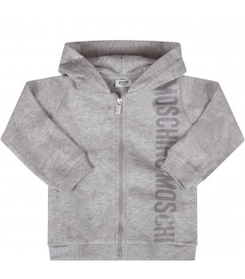 MOSCHINO KIDS Grey babykids tracksuit with logo