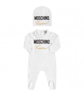 "MOSCHINO KIDS White baby set ""Moschino Couture!"""