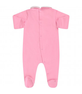 MOSCHINO KIDS Pink babygirl set ''Moschino Couture''