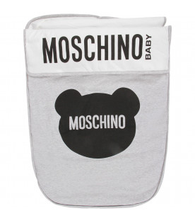 MOSCHINO KIDS Grey babykids sleeping bag with logo