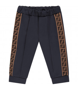 purchase cheap 1aa83 0bcb3 Fendi Kids Pantaloni blu