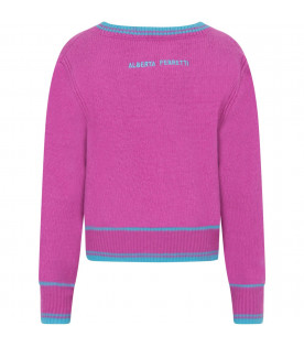 Purple sweater for girl with azure writing