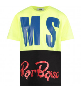 MSGM KIDS Multicolor boy T-shirt with maxi logo