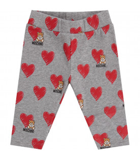 Leggings grigio per neonata con iconici Teddy Bear